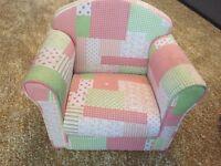 Girls arm chair multi coloures