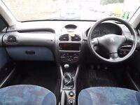 LOW Miles Peugeot 206 LX,1.1 PETROL, 5 DOOR hatchback