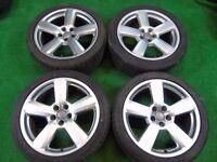 """AUDI A3, TT MK1, VW GOLF MK4, BEETLE, BORA RS6 STYLE 18"""" ALLOY WHEELS 5X100"""