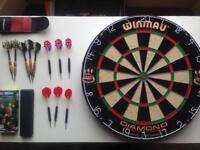 Winmau Dart Board and Darts