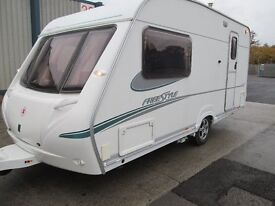 ABBEY FREESTYLE 470 SE TWO BERTH TOURING CARAVAN YEAR 2006 ONE OWNER FROM NEW READY TO GO !!!