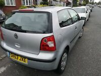 **VOLKSWAGEN POLO** 1.2 VW 2003 MOT TAX AND INSURANCE FULL SERVICE HISTORY GREAT CONDITION