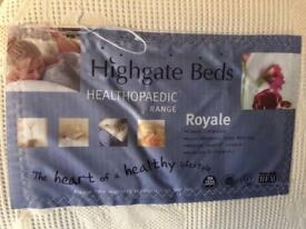 Highgate single bed with mattress