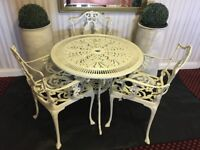 Garden Table & 3 Chairs