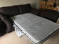 Three seater sofa and two seater bed sofa