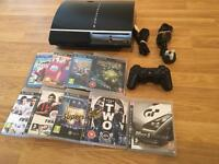 80gb PS3 Console Complete With 9 Games £50 no offers (PlayStation 3)