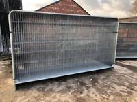🛠 New* Round Top Heras Temporary Security Fencing Sets X 35 - Panel/Foot/Clip