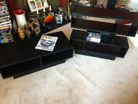 TV & DVD stands wooden Display units, Coffee table, Mint condition, Black