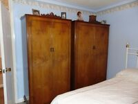 Stag Wardrobes And Dressing Table