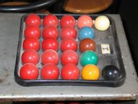 Full Size Snooker Ball Set