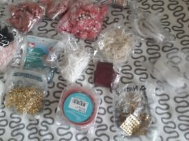 Assortment of Sewing Trims, Ribbons etc.