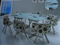 glass dining tables with 6 chairs all brand new various designs