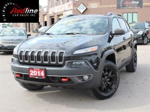 2014 Jeep Cherokee Trailhawk AccidentFree NAVI-Blind Spot-LOADED