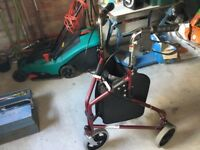 Three wheel walking aid. Good condition walking aid mainly used inside