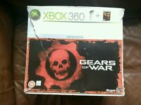 Xbox 360 console with joy pad and games