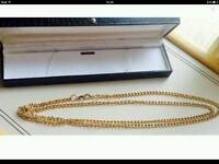 Double length gold plated curb chain