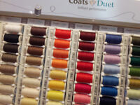 2 x Retail Shop Display Unit filled with Coats Sewing Thread - Haberdashery Crafts