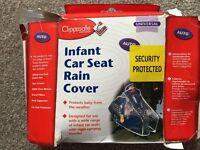 Infant car seat rain cover
