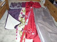 4x Pairs of Curtains 2x roller blinds collection Exeter job lot