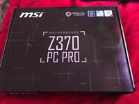 MSI Z370 PC PRO Socket 1151 DDR4 SATA USB 3.0 M.2 PCIe 3.0 x16 HDMI Motherboard - Black