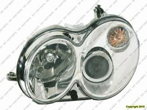 Head Light Driver Side Without Curve Lighting Without Bulb/Module Clk Models High Quality Mercedes C-Class 2008-2009