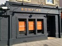Edinburgh -Bonfire! looking for Chefs, Wait Staff, Bar Tenders,Supervisors and Restaurant Manager