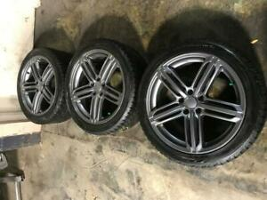 AUDI RS 5 WINTER SNOW TIRES & RIMS 245 40R 19 NOKIAN HAKKAPELIITTA 5X112 BOLT BALANCED