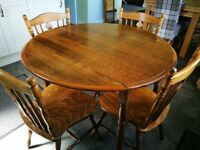 Oak kitchen table with 4 chairs for sale