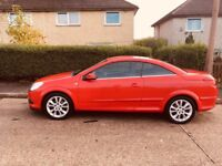Vauxhall astra 2007 twintop convertible hard top red automatic petrol 1.8