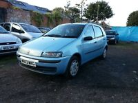 2003 Fiat PUNTO 1.2 petrol, 5 doors, good condition, drives well