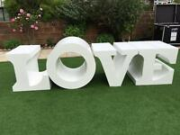 LOVE wedding table letters large Asian Nigerian shabby chic top head table decor decorations