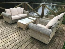 3 sets of wicker rattan furniture