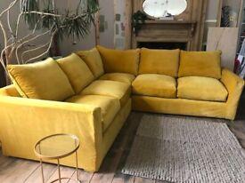 Loaf Velvet Corner Sofa Even Sided
