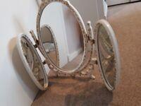 Shabby Chic 3 way Dressing table mirror.