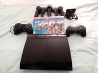 SONY PS3 move controller 2 joysticks and PS webcam and 2 games