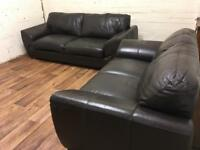 DFS leather 3+2 sofas (free delivery)
