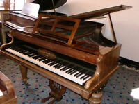 "BROAD WOOD GRAND PIANO 5FT 8"" ROSE WOOD MINT FOR 1860C/C SHOW PIECE CAN DELIVER £450"