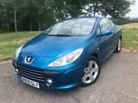 2005 55 PEUGEOT 307cc 2.0 HDi *DIESEL* CONVERTIBLE - *FULL SERVICE HISTORY* - FULL CREAM LEATHER!!
