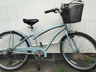 "Ladies Apollo Bicycle with Basket Good Condition 17"" ONO"