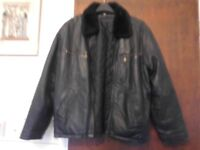 Womans waist length real leather jacket.