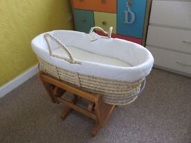 Moses Basket Mothercare and Rocking Stand Mothercare