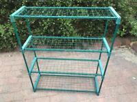 Greenhouse Shelving. (Three sets).