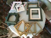 Picture Frames with various colour mounts & 3D boxes (Qty 14)