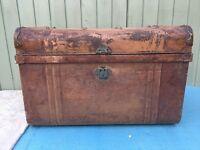 Vintage metal chest trunk