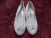 Ladies new flat white shoes
