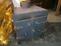 WOOD BURNING STOVE MODERNIST THE SAFE / THE GOODWOOD STOVE / BOILER
