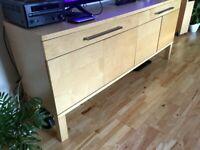 IKEA SIDEBOARD SUPERB CONDITION 4 DOOR 2 DRAWER 156CM X 69CM X 40 CM BAILLIESTON