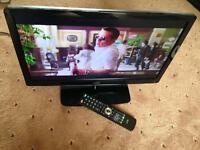"Logik Full HD 22"" LED TV, built-in DVD and freeview, remote"