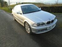 02 bmw 325 ci coupe 2.5 6 cylinder petrol v/ clean retired owner