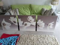 canvas flower pictures